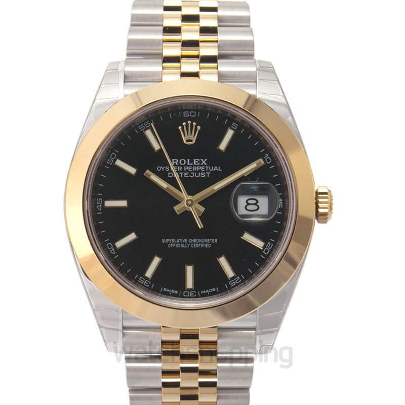 Rolex Datejust 41 Rolesor Yellow Smooth / Jubilee / Black