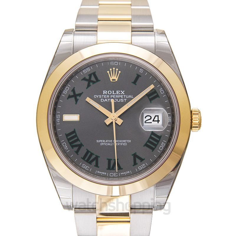 Rolex Datejust 41 Rolesor Yellow Smooth / Oyster / Slate Roman