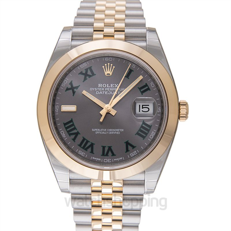 Rolex Datejust 41 Rolesor Yellow Smooth / Jubilee / Slate Roman