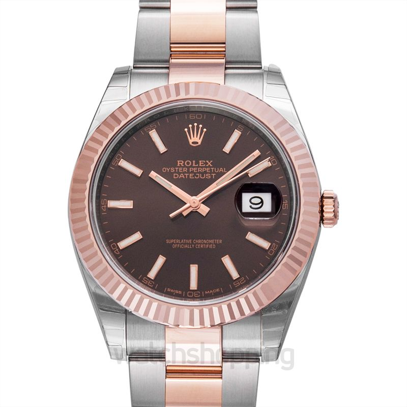 Rolex Rolex Datejust 41 Chocolate Dial Steel and 18K Everose Gold Men's Watch 126331CHSO
