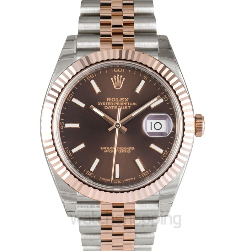 Rolex Datejust Automatic Brown Dial Men's Watch
