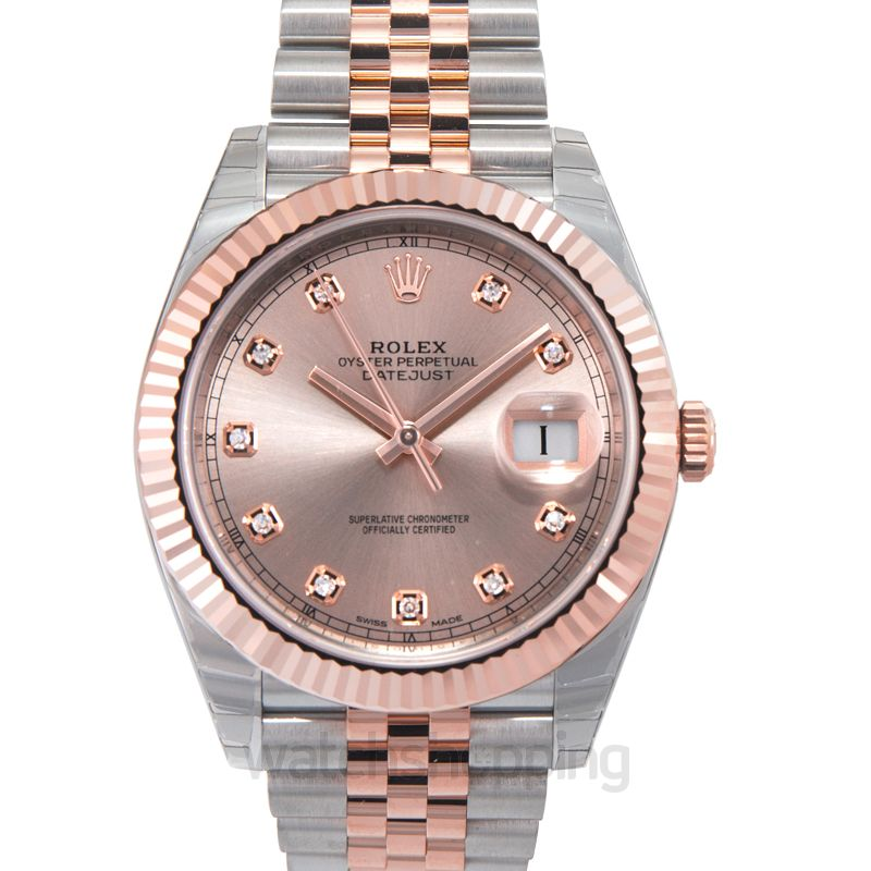Rolex Datejust Automatic Pink Dial Men's Watch