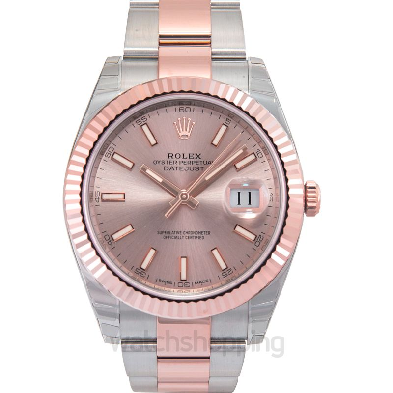 Rolex Rolex Datejust 41 Sundust Dial Steel and 18K Everose Gold Men's Watch 126331SNSO