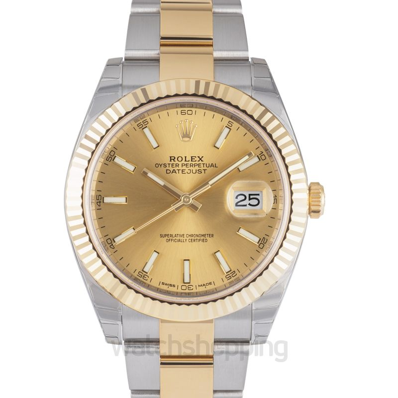 Rolex Datejust 41 Rolesor Yellow Fluted / Oyster / Champagne