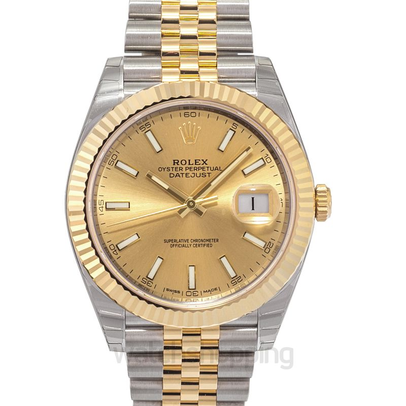 Rolex Datejust 41 Rolesor Yellow Fluted / Jubilee / Champagne