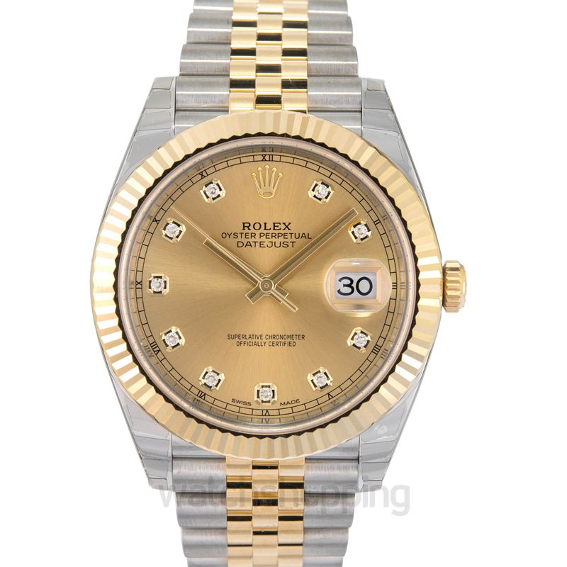 Rolex Datejust 41 Rolesor Yellow Fluted / Jubilee / Champagne Diamond