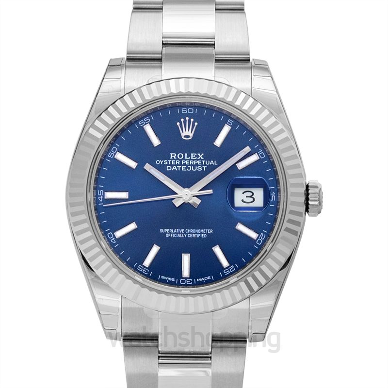Rolex Oyster Perpetual Datejust 41 Blue Dial Automatic Men S Watch 126334blso