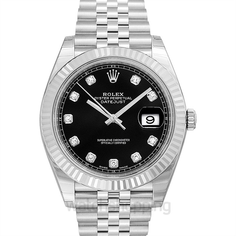 Rolex Datejust 41 Black Steel/18k White Gold Dia 41mm
