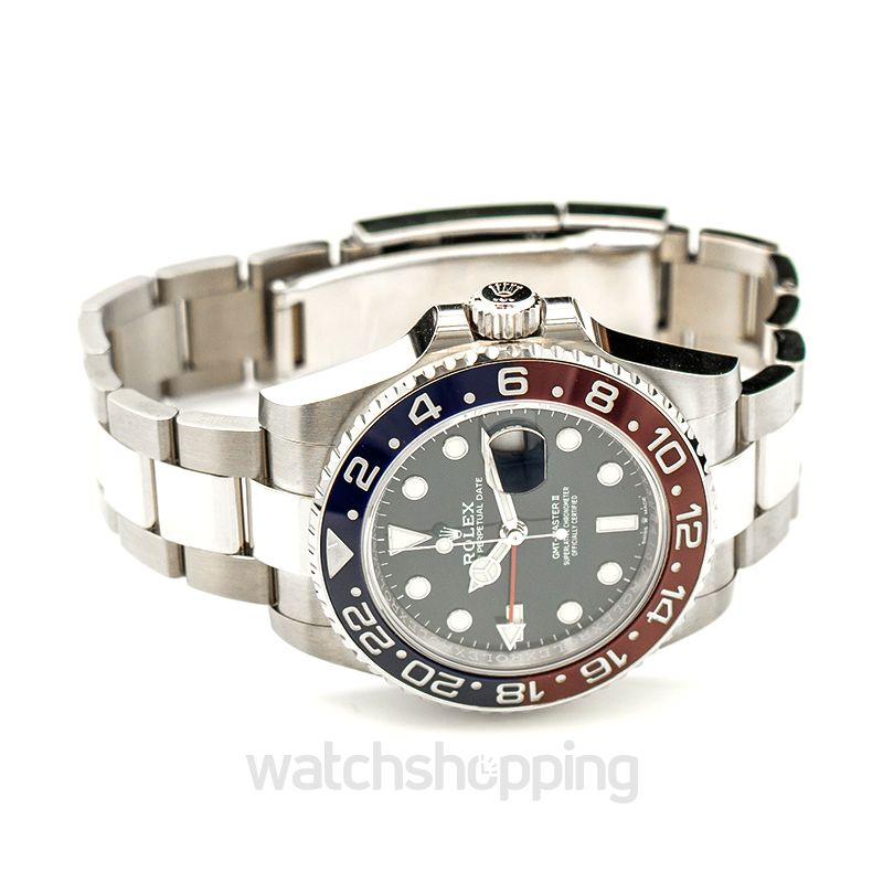 Gmt Master Ii White Gold Automatic Blue Dial Men S Watch