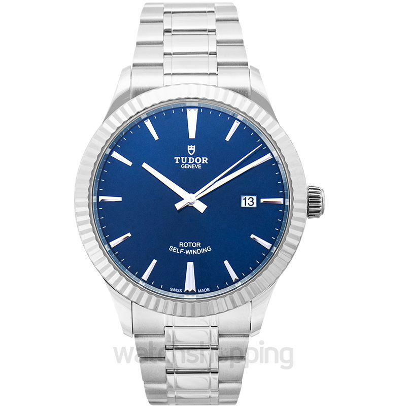 Tudor Style Automatic Blue Dial Men's Watch