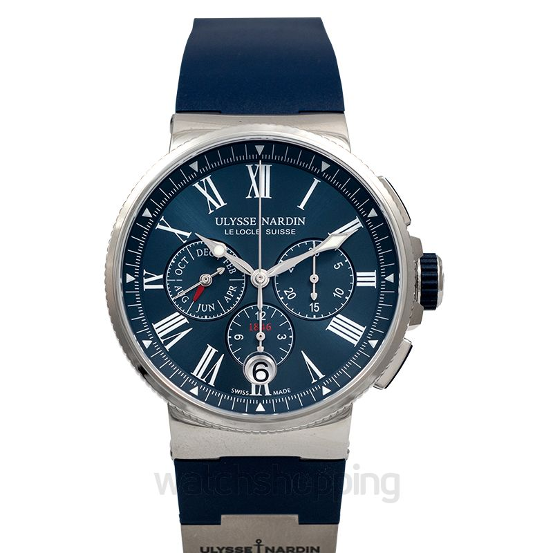 Ulysse Nardin Marine Chronograph Stainless Steel Automatic Blue Dial Men's Watch