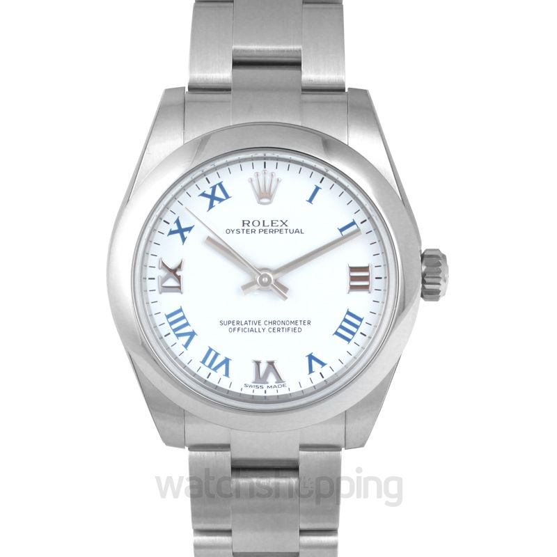 Rolex Oyster Perpetual Automatic White Dial Ladies Watch