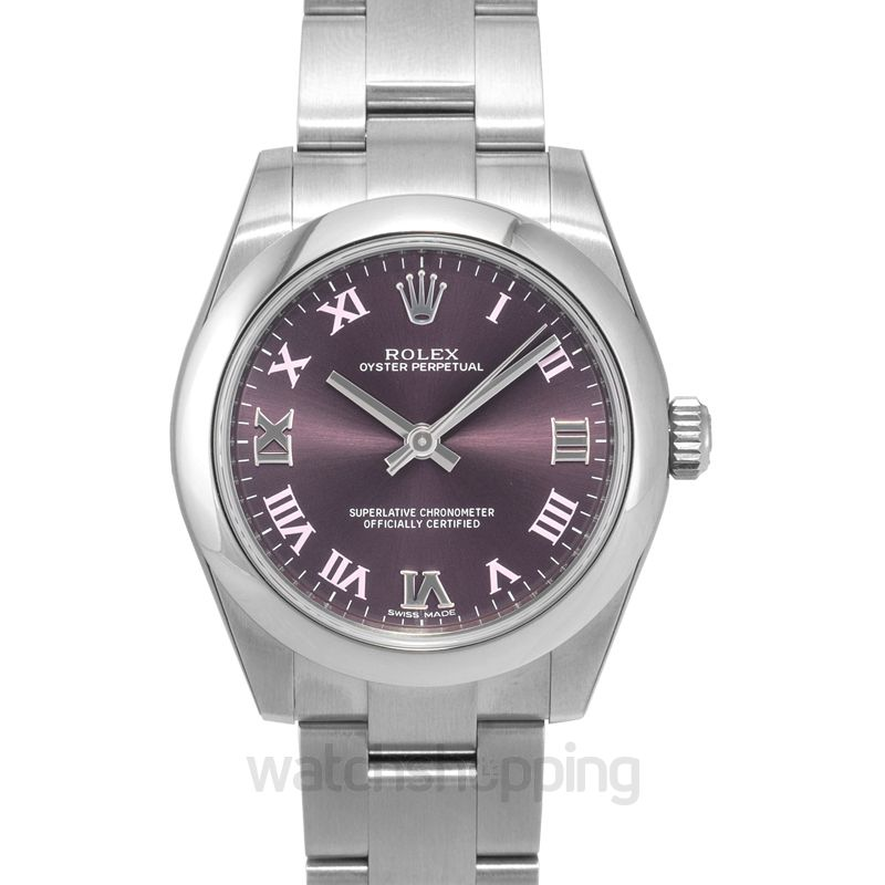Rolex Oyster Perpetual Automatic Purple Dial Ladies Watch