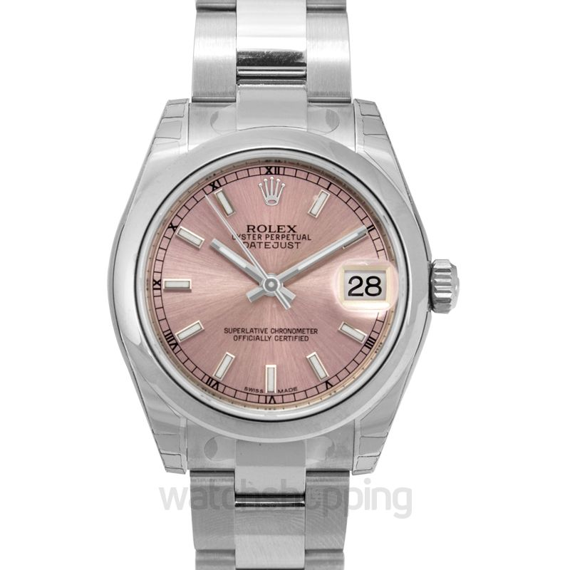 Rolex Datejust 31 Stainless Steel Domed / Pink / Pink