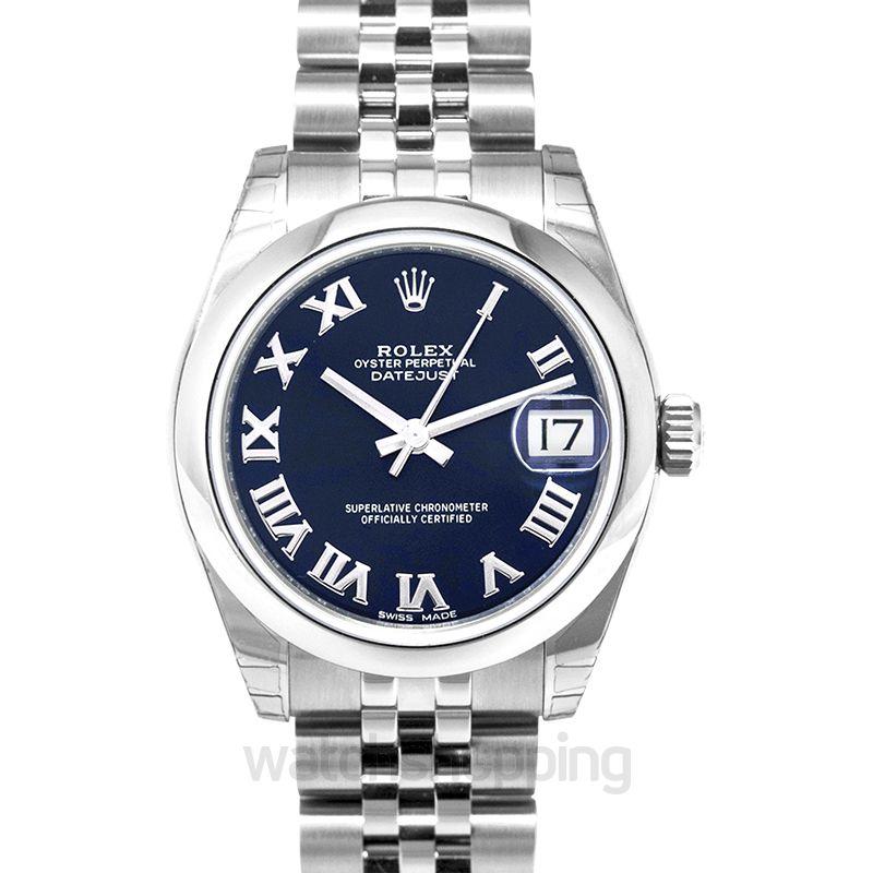 Rolex Datejust 31 Stainless Steel Domed / Jubilee / Blue Roman
