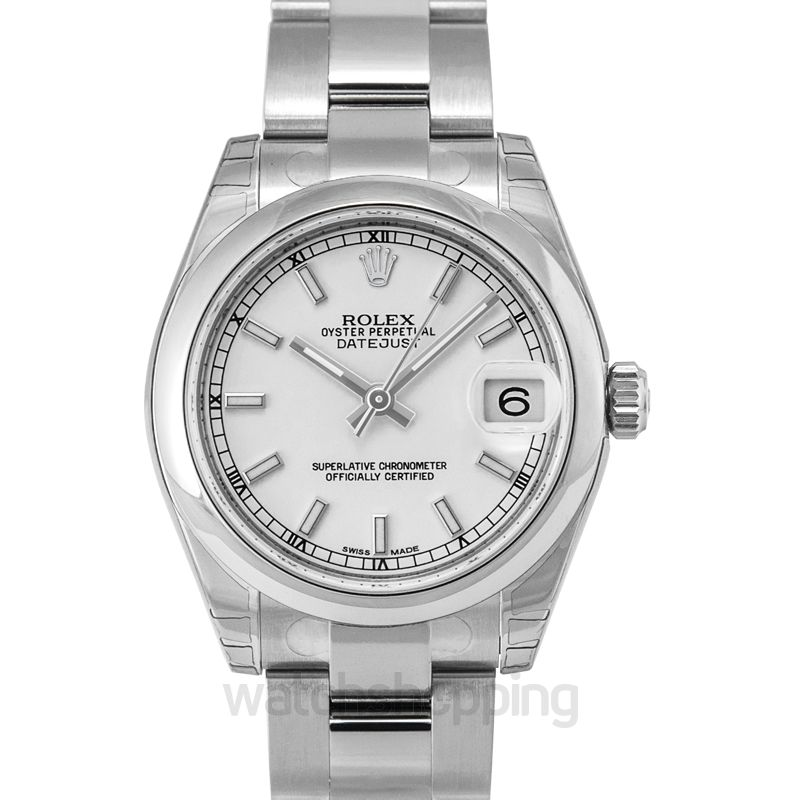 Rolex Datejust 31 Stainless Steel Domed / Oyster / White