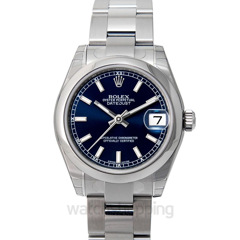 Rolex Datejust 31 Stainless Steel Domed / Oyster / Blue