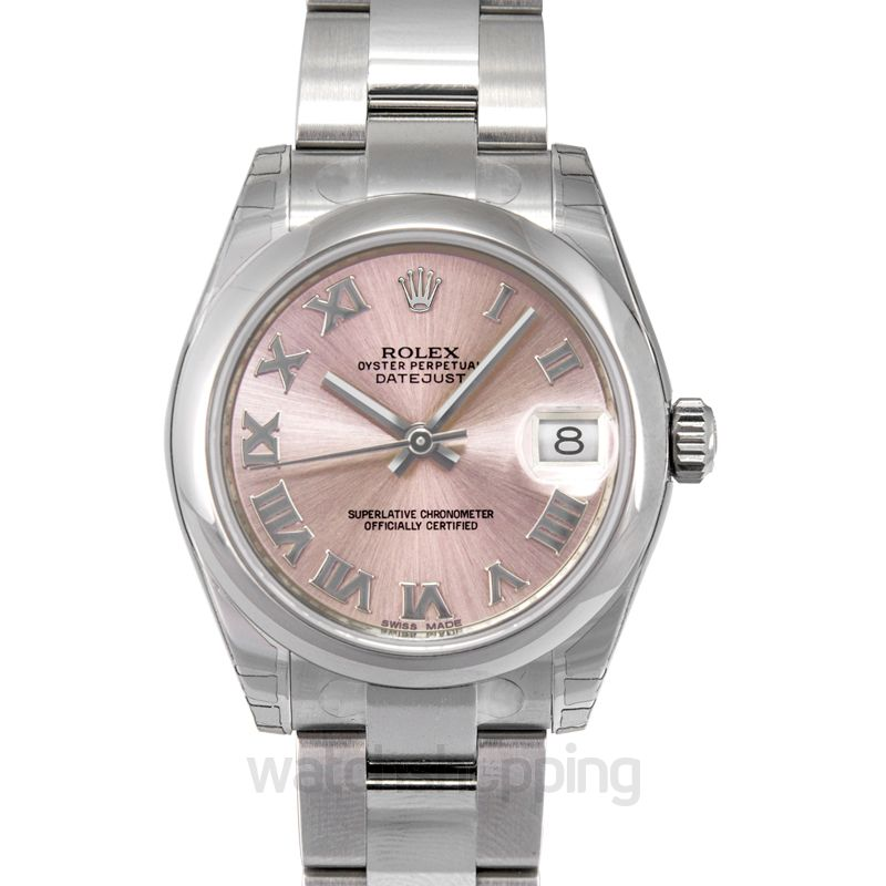 Rolex Datejust 31 Stainless Steel Domed / Oyster / Pink Roman