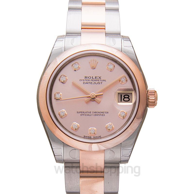 98ccc57757f New Rolex Datejust Lady 31 Pink Dial Stainless Steel and 18K Everose ...