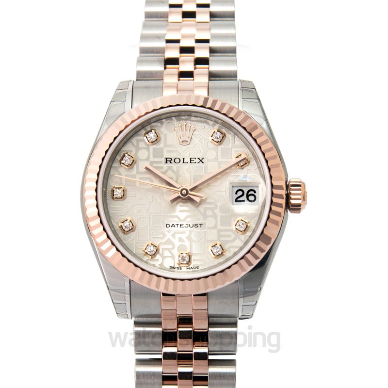 Rolex Datejust 31 Rolesor Everose Fluted / Jubilee / Silver Computer