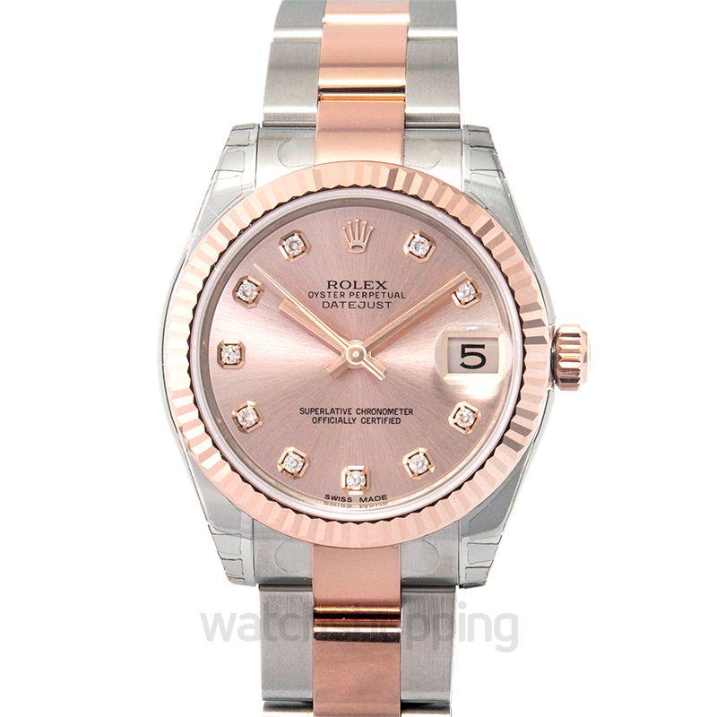 Rolex Datejust 31 Rolesor Everose Fluted / Oyster / Pink Diamond
