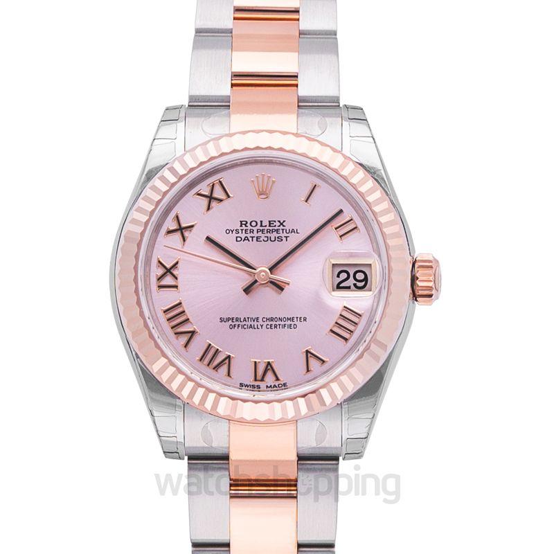 ba2d1b46db1 New Rolex Datejust 31 Rolesor Everose Fluted / Oyster / Pink Roman ...