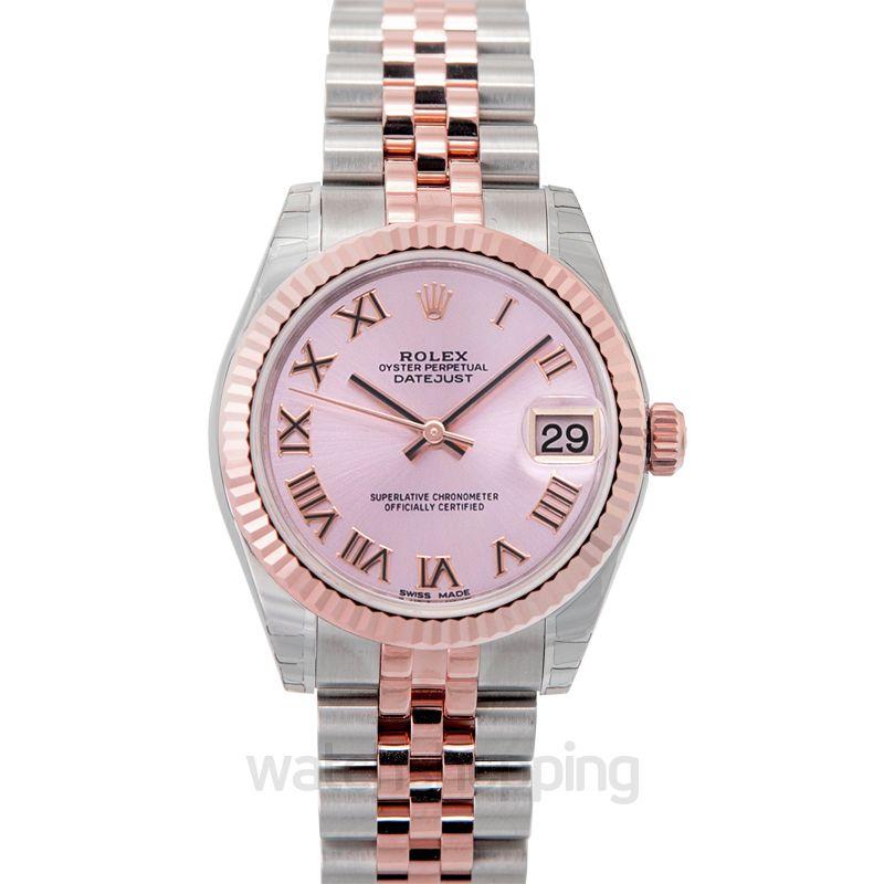 Rolex Datejust 31 Rolesor Everose Fluted / Jubilee / Pink Roman