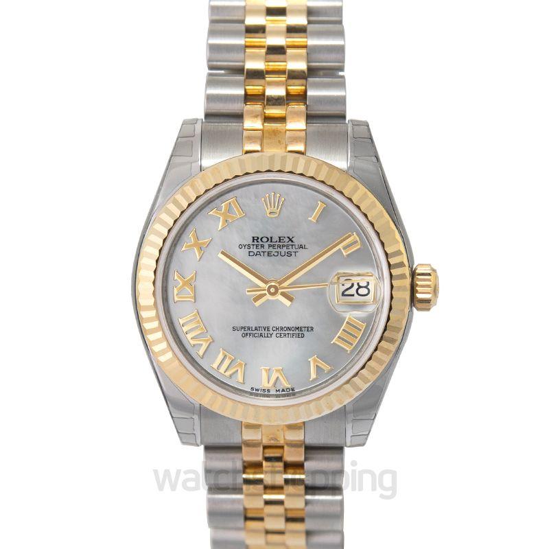 Rolex Datejust 31 Rolesor Yellow Fluted / Jubilee / MOP Roman