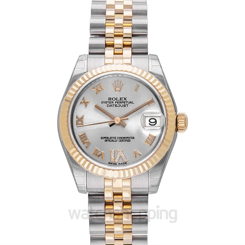 Rolex Datejust 31 Rolesor Yellow Fluted / Jubilee / Silver Roman