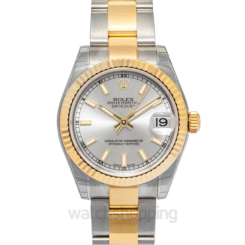 Rolex Datejust 31 Rolesor Yellow Fluted / Oyster / Silver