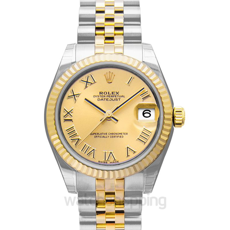 Rolex Lady Datejust Automatic Champagne Dial Ladies Watch