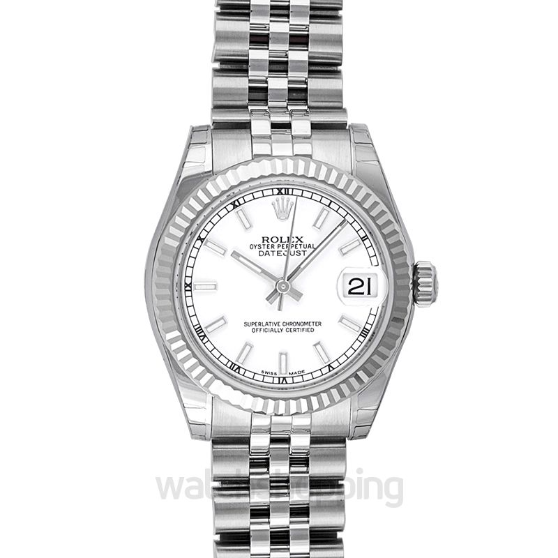 Rolex Datejust 31 Stainless Steel Fluted / Jubilee / White