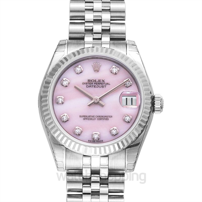 Rolex Datejust 31 Stainless Steel Fluted / Jubilee / Pink Diamonds