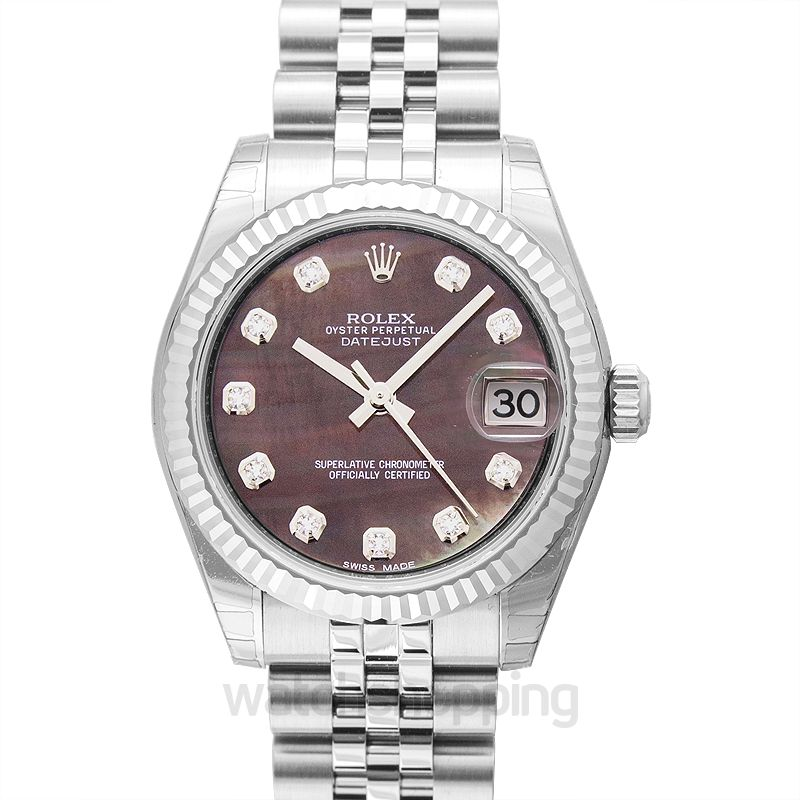 Datejust 31 Stainless Steel Fluted Jubilee Black Mop