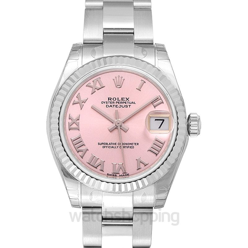 Rolex Datejust 31 Stainless Steel Fluted / Oyster / Pink Roman