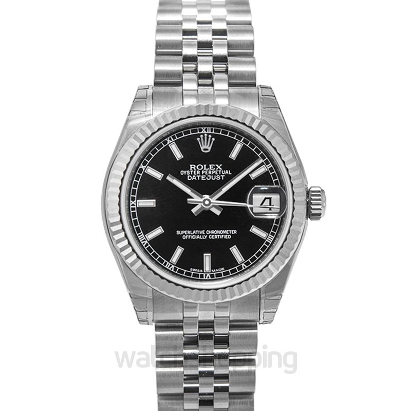 Rolex Datejust 31 Stainless Steel Fluted / Jubilee / Black