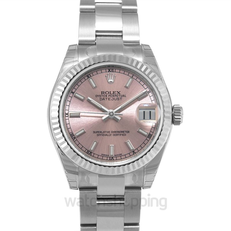 Rolex Datejust 31 Stainless Steel Fluted / Oyster / Pink