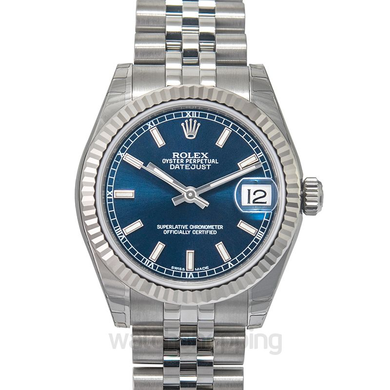 Rolex Datejust 31 Stainless Steel Fluted / Oyster / Blue