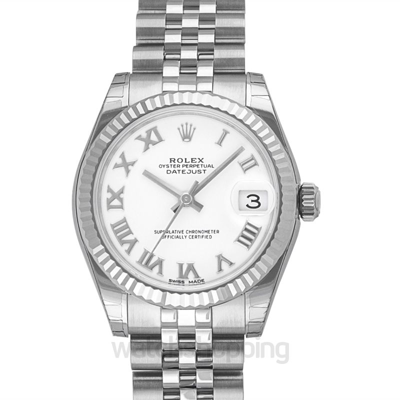 Rolex Datejust 31 Stainless Steel Fluted / Jubilee / White Roman