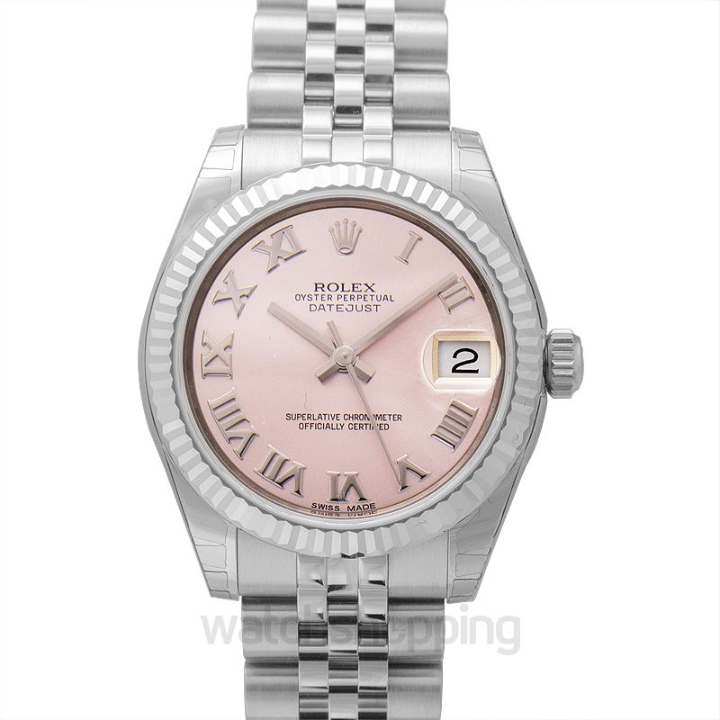 Rolex Datejust 31 Stainless Steel Fluted / Jubilee / Pink Roman