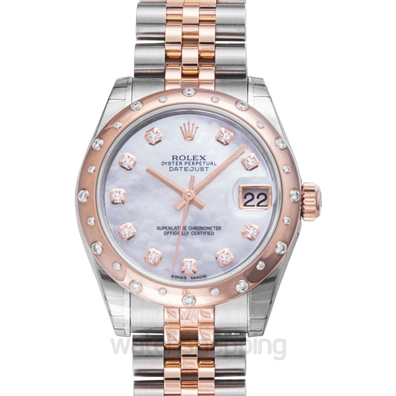 Rolex Datejust 31 Rolesor Everose Domed Diamond / Jubilee / MOP