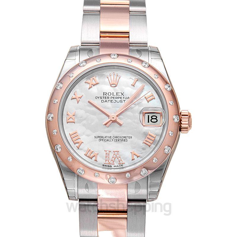 Rolex Datejust 31 Rolesor Everose Domed Diamond / Oyster / MOP Roman