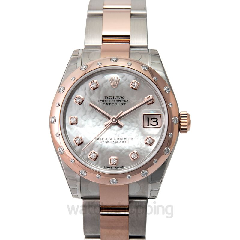 Rolex Datejust 31 Rolesor Everose Domed Diamond / Oyster / MOP