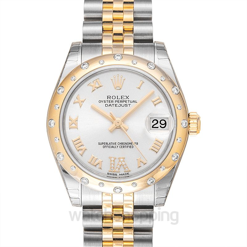 Rolex Datejust 31 Rolesor Yellow Domed Diamond / Jubilee / Silver Roman