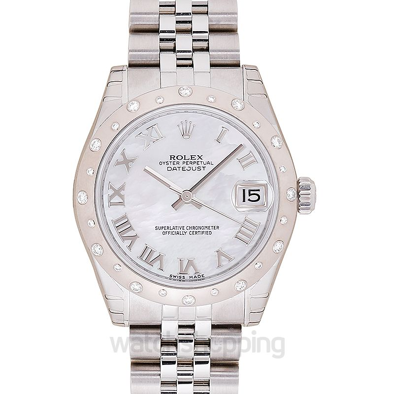 Rolex Datejust 31 Stainless Steel Domed Diamond / Oyster / MOP Roman