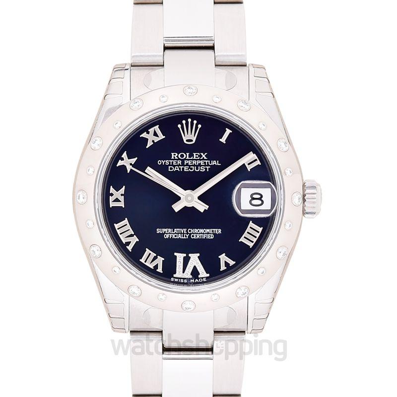 Rolex Datejust 31 Stainless Steel Domed Diamond / Oyster / Purple Roman
