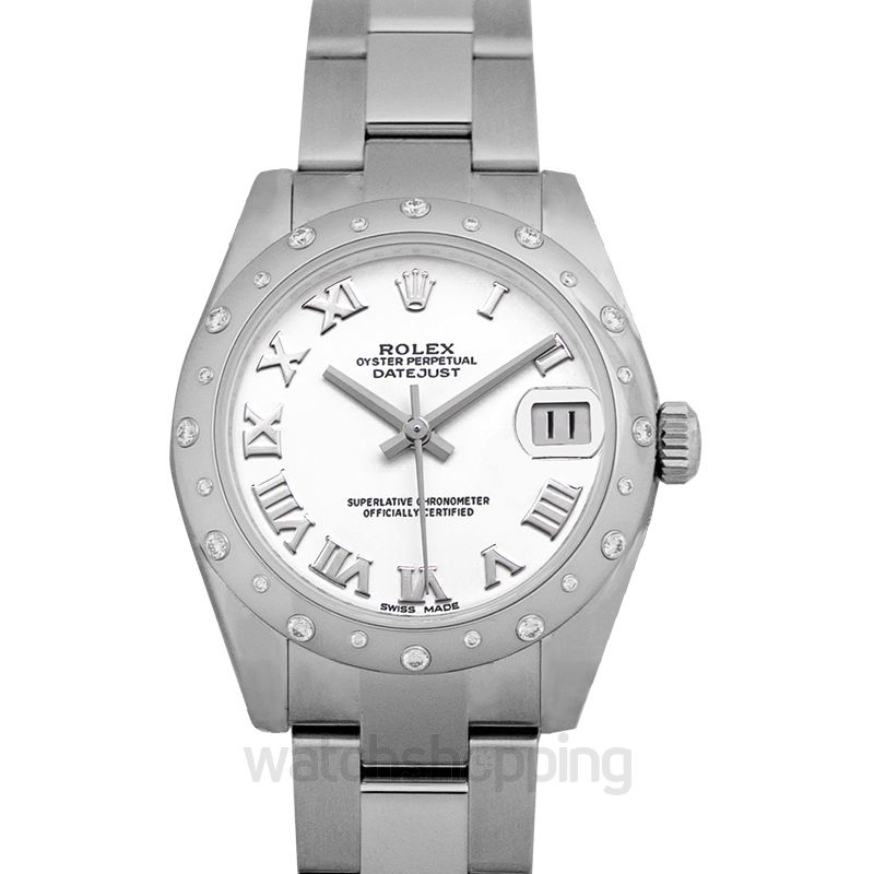 Rolex Datejust Automatic White Dial Ladies Watch
