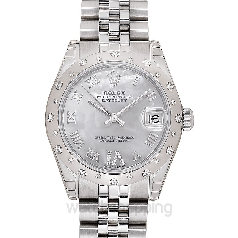 Rolex Rolex Oyster Perpetual Datejust 31 Mother of Pearl Dial Stainless Steel Jubilee Bracelet Automatic Ladies Watch 178344MRJ