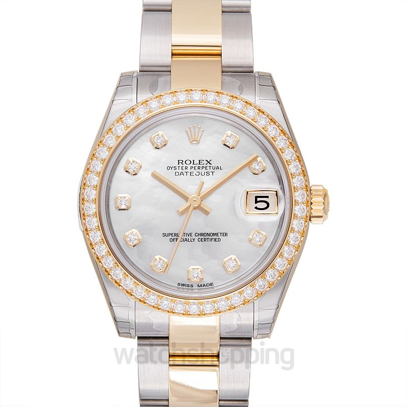 Rolex Datejust 31 Rolesor Yellow Diamond / Oyster / MOP