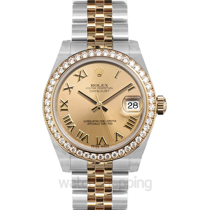 Rolex Datejust Automatic Champagne Dial Ladies Watch